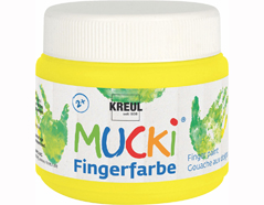 K23126 Pintura dedos MUCKI amarillo chillon 150ml Mucki