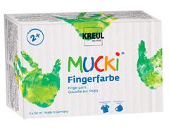 K2316 Set 6 botes pintura dedos MUCKI Hobby line