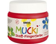 K28103 Pintura dedos para textil rojo 150ml Mucki