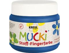 K28104 Pintura dedos para textil azul 150ml Mucki