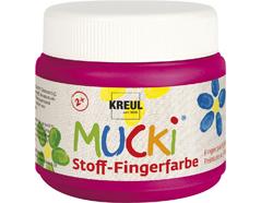 K28109 Pintura dedos para textil rosa 150ml Mucki