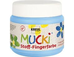 K28111 Pintura dedos para textil azul claro 150ml Mucki