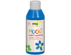 K28404 Pintura dedos para textil azul 250ml Mucki