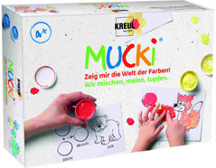 K29100 Kit pintura MUCKI Pintamos mezclamos y estampamos Mucki
