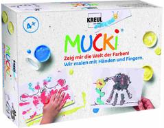K29101 Kit pintura MUCKI Pintamos con nuestras manos y dedos Mucki