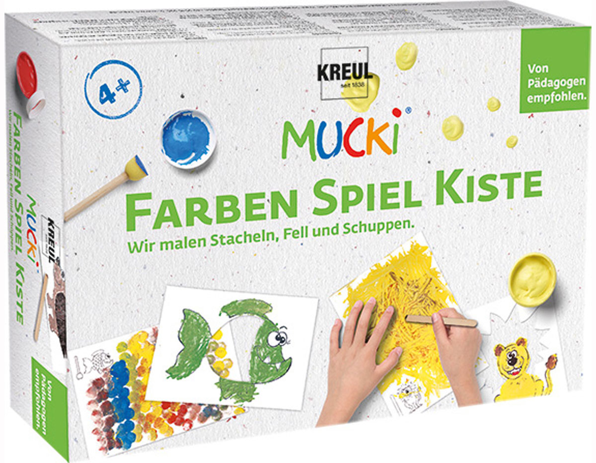 K29102 Kit pintura MUCKI Pintamos puas pelo y escamas Mucki