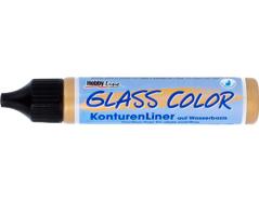 K42451 Contorneador pintura vidrio transparente GLASS COLOR oro Hobby line