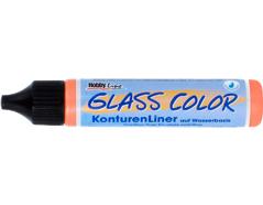 K42453 Pintura vidrio transparente para contornos GLASS COLOR bronce Hobby line
