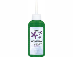 K42724 Pintura vidrio GLAS DESIGN purpurina verde Hobby line