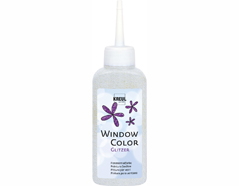 K42728 Pintura vidrio GLAS DESIGN purpurina plata Hobby line