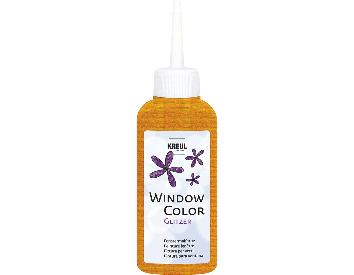 K42766 Pintura para ventana con purpurina WINDOW COLOR naranja C Kreul
