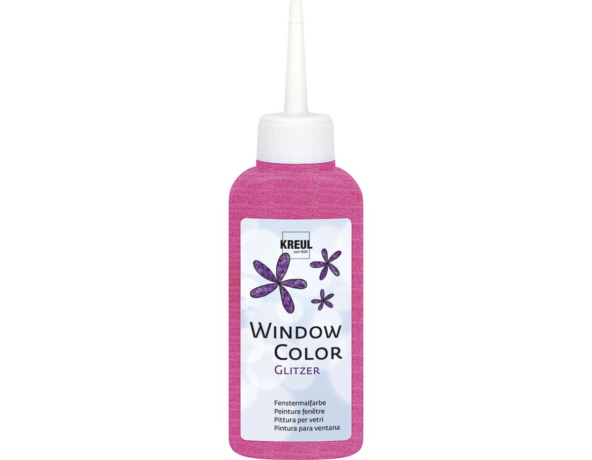 K42767 Pintura para ventana con purpurina WINDOW COLOR rosa C Kreul
