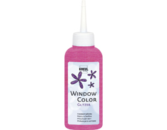 K42767 Pintura para ventana con purpurina WINDOW COLOR rosa C Kreul