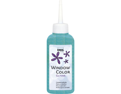 K42768 Pintura para ventana con purpurina WINDOW COLOR turquesa C Kreul