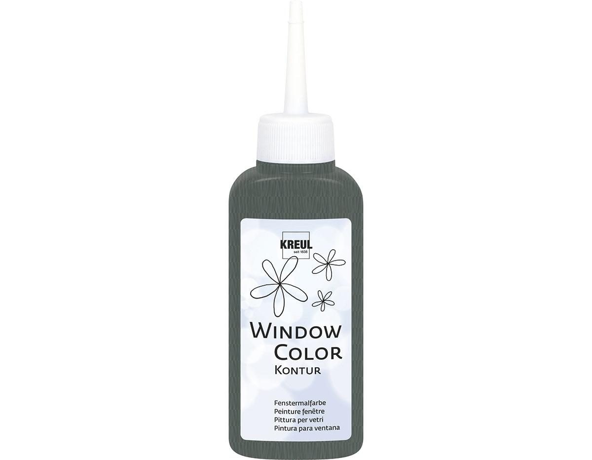 K42771 Pintura para ventana con purpurina WINDOW COLOR gris 80ml C Kreul