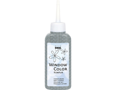 K42785 Pintura vidrio GLAS DESIGN purpurina plata Hobby line