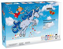 K42844 Kit pintura para ventana GLAS DESIGN Fantasias chispeantes Hobby line