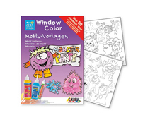 K42887 Hoja WINDOW COLOR Monsterparty Hobby line - Ítem