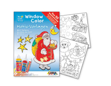 K42889 Hoja WINDOW COLOR Navidades de ninos Hobby line