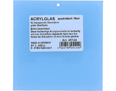 K45124 Forma cuadrada cristal acrilico para pintura vidrio Hobby line