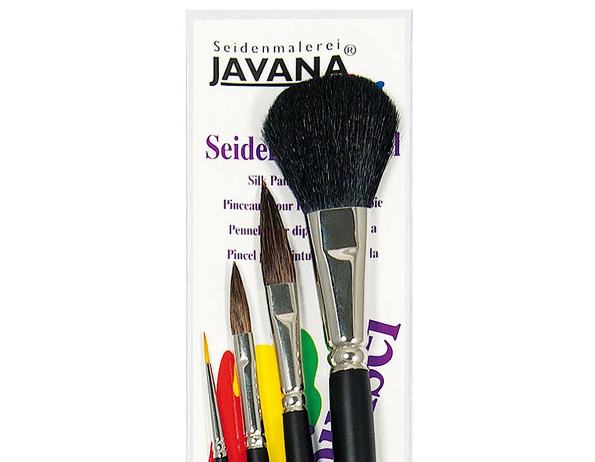 K48104 Set 4 pinceles para cera fria Javana