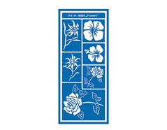K48203 Plantilla autoadhesiva flores Hobby line