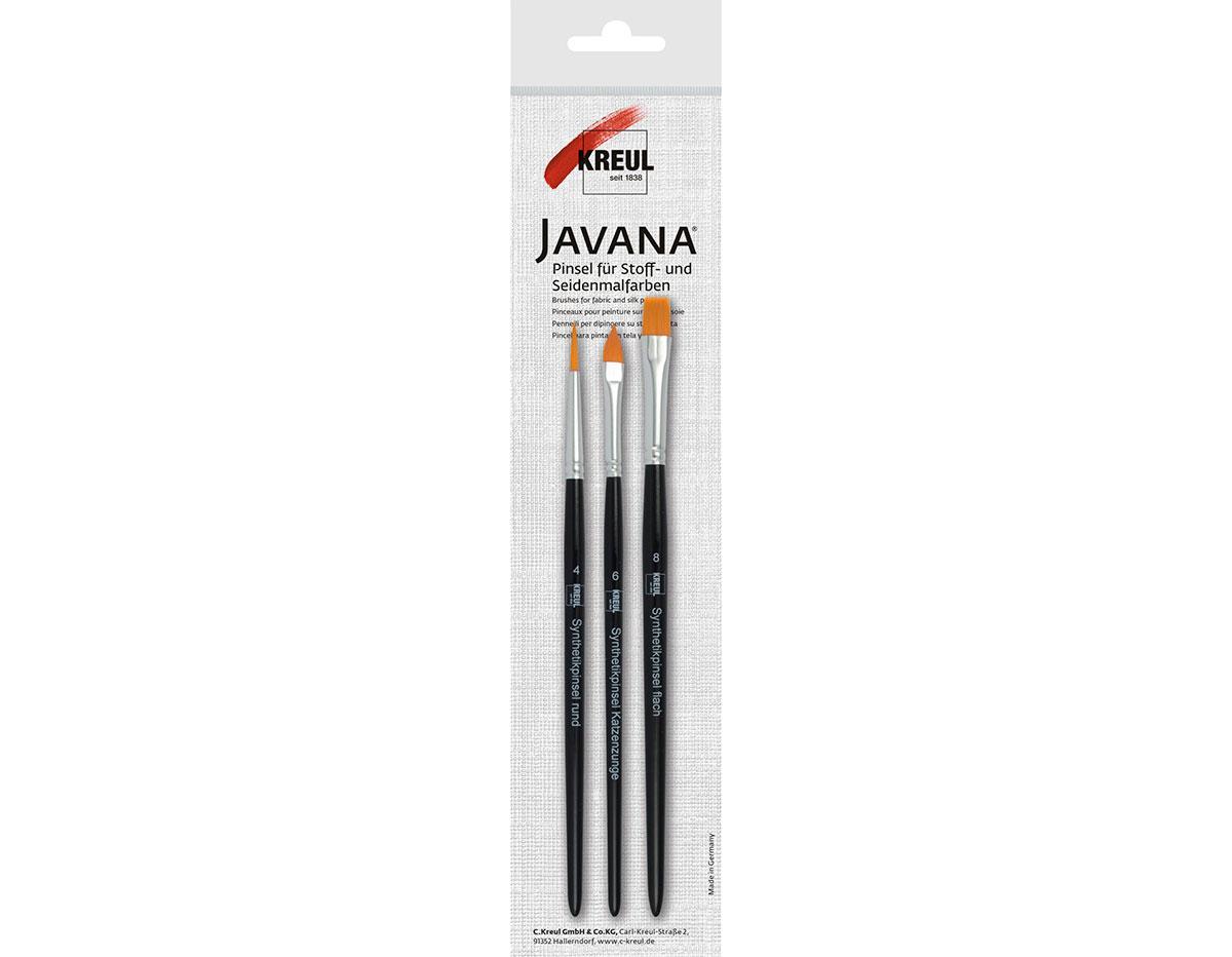 K49042 Set 3 pinceles para textil Javana tex