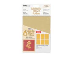 K49098 Set de hojas efecto metalico oro Hobby line