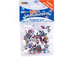 K49619 Gemas decorativas triangulo colores surtidos Hobby line