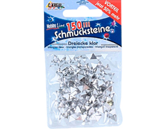 K49629 Gemas decorativas triangulo transparente Hobby line
