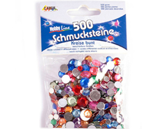 K49630 Gemas decorativas circulo colores y tallas surtidos Hobby line
