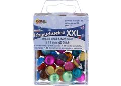 K49669 Gemas decorativas XXL circulo pulido colores surtidos Hobby line