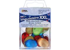 K49673 Gemas decorativas XXL ovalo pulido colores surtidos Hobby line