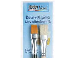 K722000 Set 2 pinceles para decoupage Hobby line