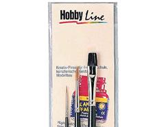 K723006 Set 3 pinceles pintura para cristal Hobby line