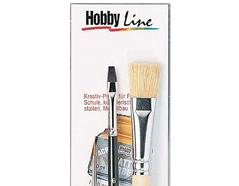 K723012 Set 3 pinceles para pintura acrilica Hobby line