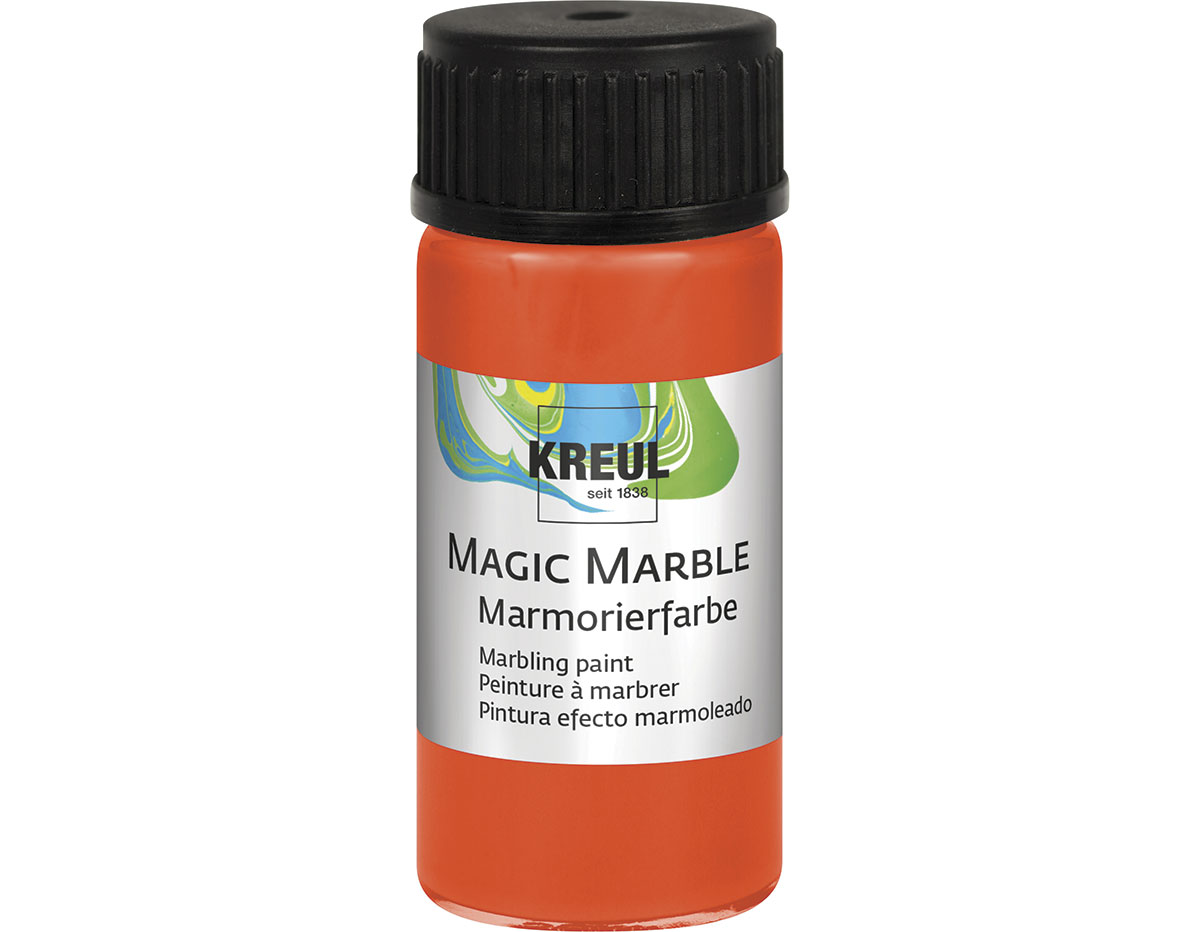 K73204 Pintura marmoleada MAGIC MARBLE naranja Hobby line