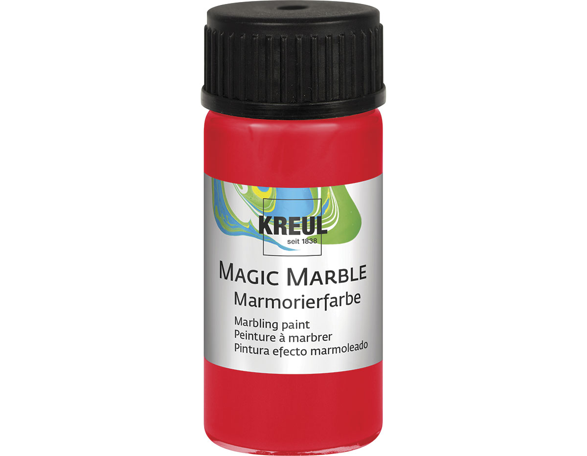 K73205 Pintura marmoleada MAGIC MARBLE rojo Hobby line