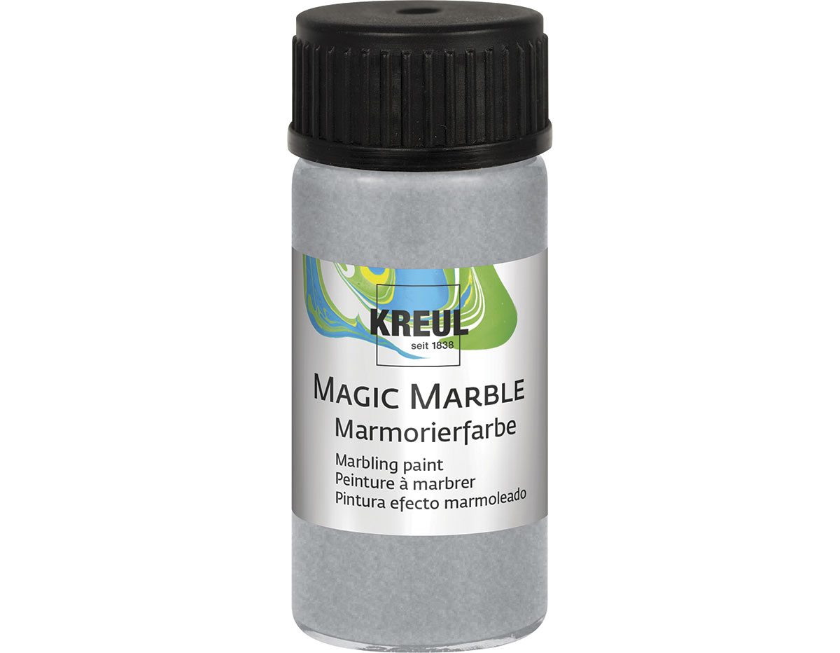 K73219 Pintura marmoleada MAGIC MARBLE metalico plata Hobby line