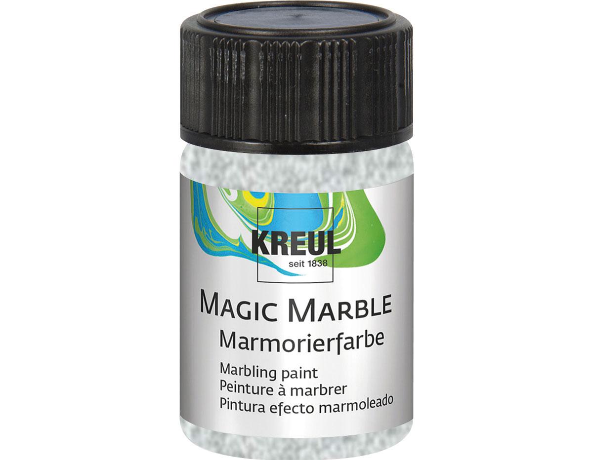 K73223 Pintura marmoleada MAGIC MARBLE purpurina plata Hobby line