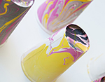 K73223 Pintura marmoleada MAGIC MARBLE purpurina plata Hobby line - Ítem3