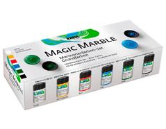 K73600 Set 6 botes pintura marmoleada MAGIC MARBLE Iniciacion Hobby line