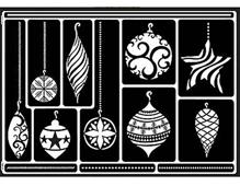 K74810 Plantilla autoadhesiva decoracion de las navidades Home design