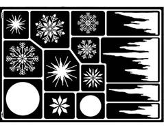 K74811 Plantilla autoadhesiva cristales de hielo Home design