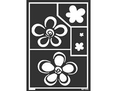 K74853 Plantilla autoadhesiva flores Home design