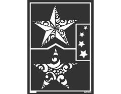 K74855 Plantilla autoadhesiva estrellas navidad Home design