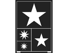 K74859 Plantilla autoadhesiva estrellas 15x21cm C Kreul