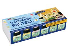 K75615 Set 6 botes pintura acrilica mate Pastel Hobby line