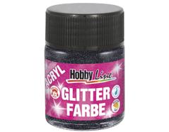 K76174 Pintura acrilica con purpurina negro Hobby line
