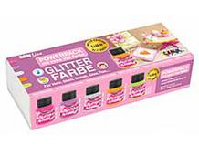 K76301 Set 5 botes pintura acrilica purpurina Candy colors Hobby line